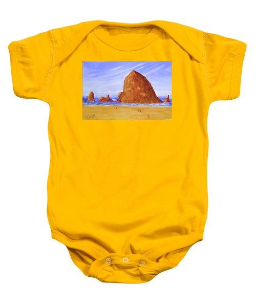 Hay Stack Rock Baby Onesie