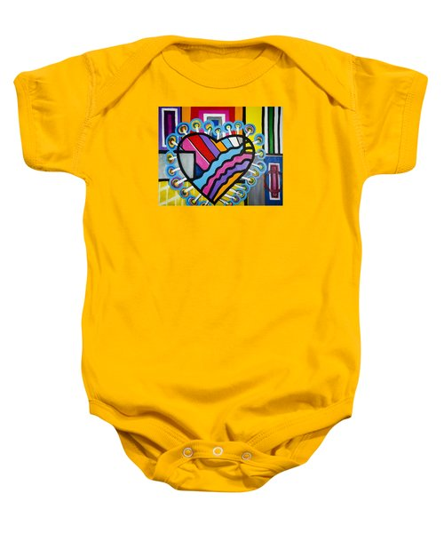 Heart Baby Onesie by Jose Rojas