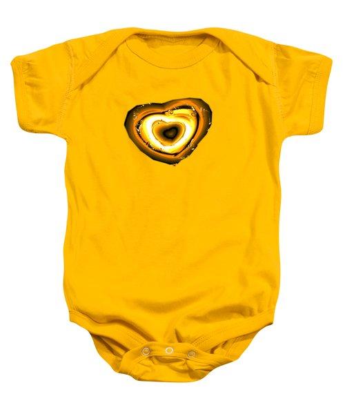Heart Of Gold Baby Onesie