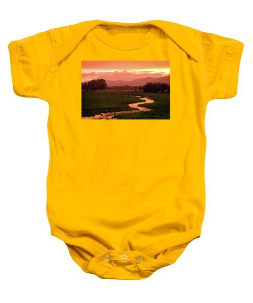Heber Valley Golden Sunset Baby Onesie