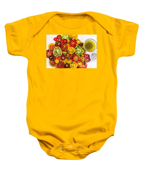 Heirloom Tomato Slices Baby Onesie