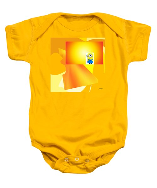 Hello Yellow Baby Onesie by Jacquie King