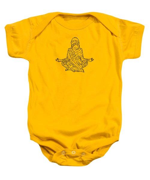 Henna Meditation Baby Onesie