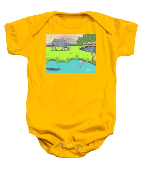 His Backward Glance Baby Onesie