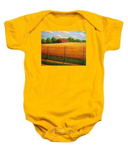 Home On The Farm Baby Onesie
