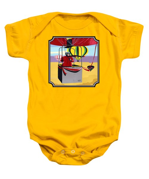 Hot Air Ballooning - Abstract - Pop Art -  Square Format Baby Onesie