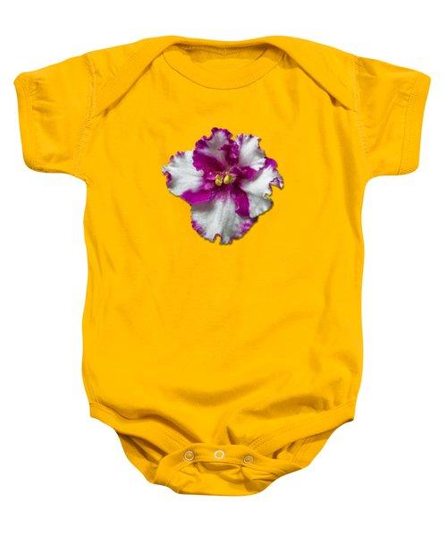 Hot Pink Flower Baby Onesie