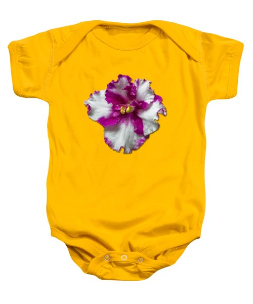 Hot Pink Flower Baby Onesie