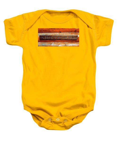 Husband's Waiting Bench - Denali National Park Baby Onesie