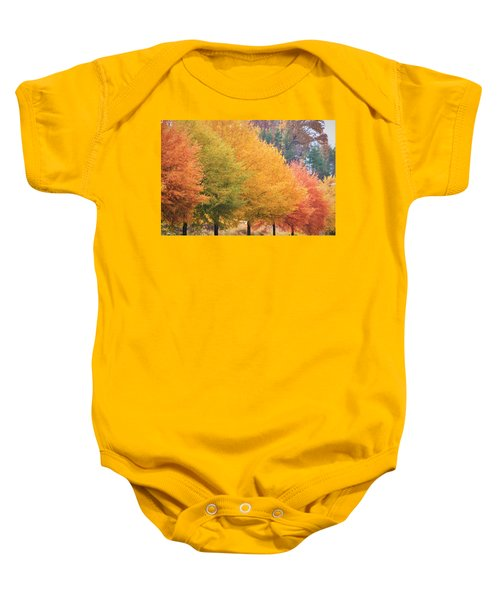 October Trees Baby Onesie