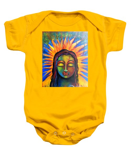 Illuminated By Her Own Radiant Self Baby Onesie