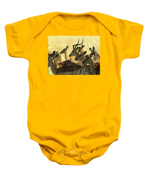 Impalas In The Plains Baby Onesie