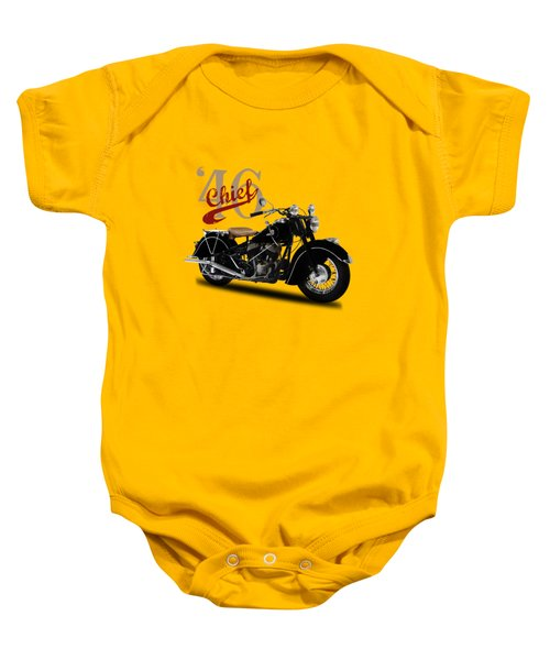 Indian Chief 1946 Baby Onesie by Mark Rogan