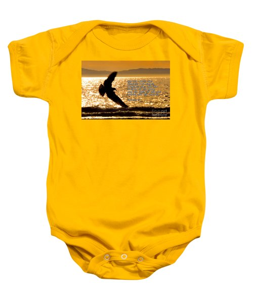 Inspirational - On The Move Baby Onesie