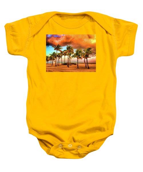 Crandon Park Beach Baby Onesie