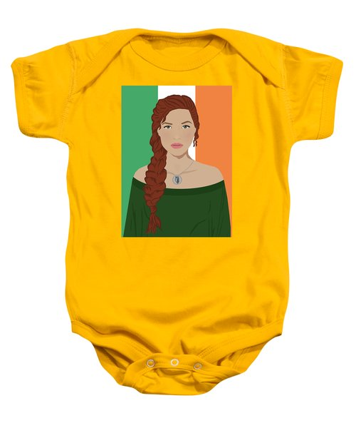 Baby Onesie featuring the digital art Ireland by Nancy Levan