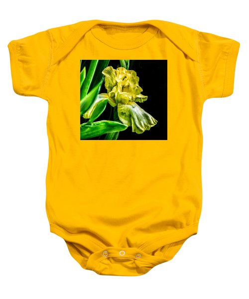 Iris In Bloom Baby Onesie