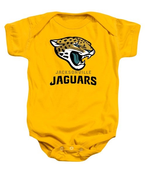 Jacksonville Jaguars On An Abraded Steel Texture Baby Onesie