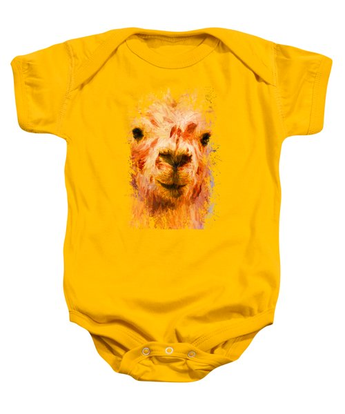 Jazzy Llama Colorful Animal Art By Jai Johnson Baby Onesie