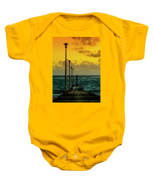 Jetty At Sunrise Baby Onesie