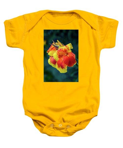 Jungle Flowers Baby Onesie