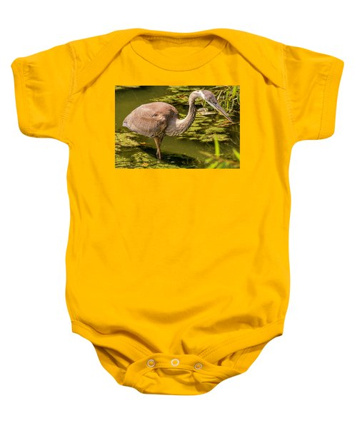 Juvenile Great Blue Heron Baby Onesie
