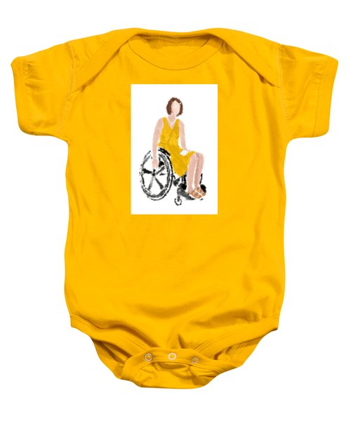 Baby Onesie featuring the digital art Kelly by Nancy Levan