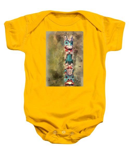 Ketchikan Alaska Totem Pole Baby Onesie by Bellesouth Studio