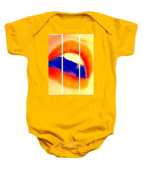 Kiss Me-triptych Baby Onesie