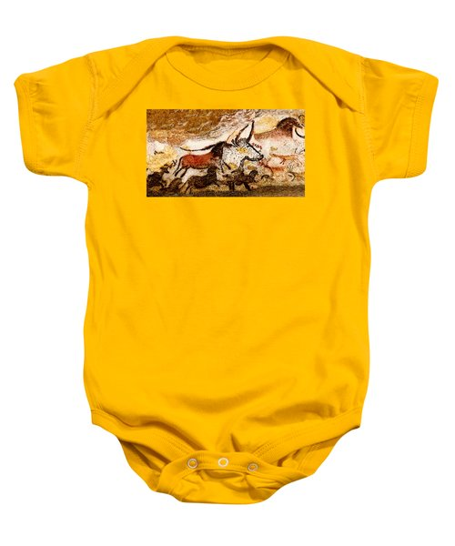 Lascaux Hall Of The Bulls - Horses And Aurochs Baby Onesie