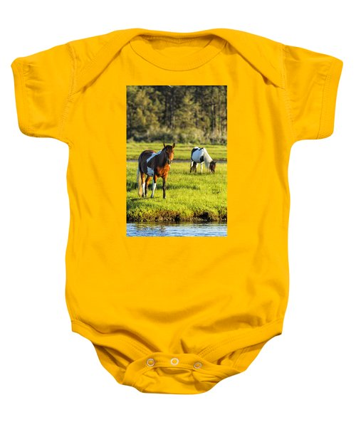 Leaving The Chincoteague Ponies Baby Onesie