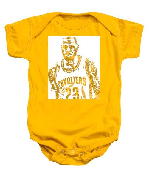 Lebron James Cleveland Cavaliers Pixel Art 10 Baby Onesie