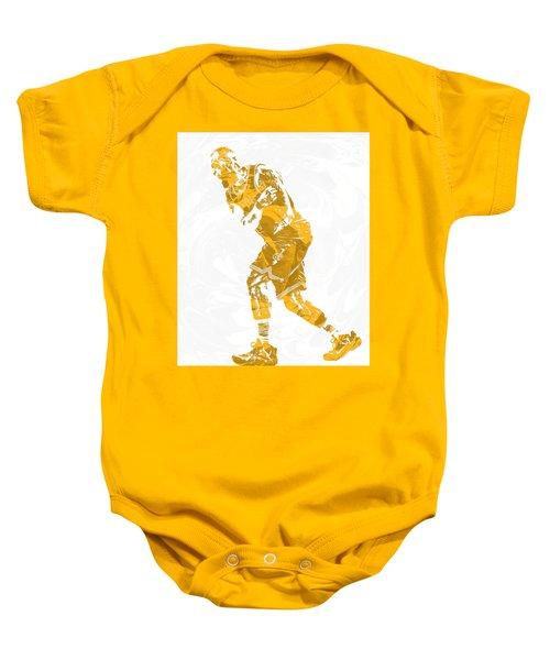 Lebron James Cleveland Cavaliers Pixel Art 13 Baby Onesie