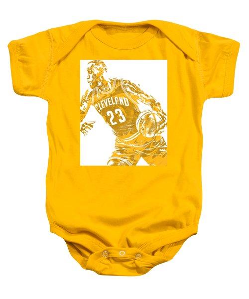 Lebron James Cleveland Cavaliers Pixel Art 20 Baby Onesie