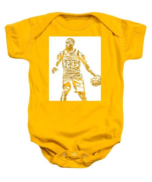 922b984b047d Lebron James Cleveland Cavaliers Pixel Art 72 Baby Onesie