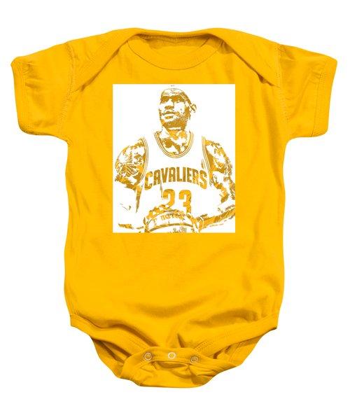 Lebron James Cleveland Cavaliers Pixel Art 8 Baby Onesie