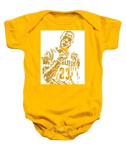 Lebron James Cleveland Cavaliers Pixel Art 9 Baby Onesie