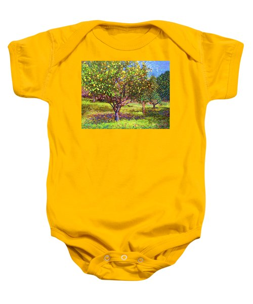 Lemon Grove Of Citrus Fruit Trees Baby Onesie