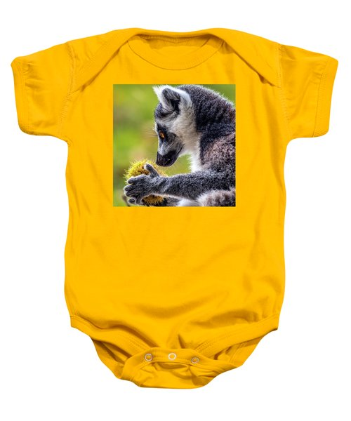 Lemur And Sweet Chestnut Baby Onesie