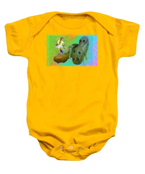Leonidas And Soccer Shoes Baby Onesie