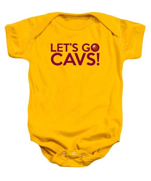 Let's Go Cavs Baby Onesie