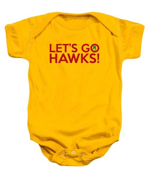 Let's Go Hawks Baby Onesie