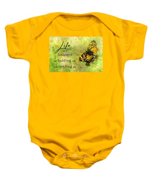Life Is A Balance Baby Onesie