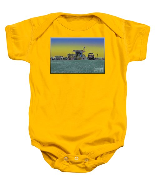 Lifeguard Tower 4 Baby Onesie