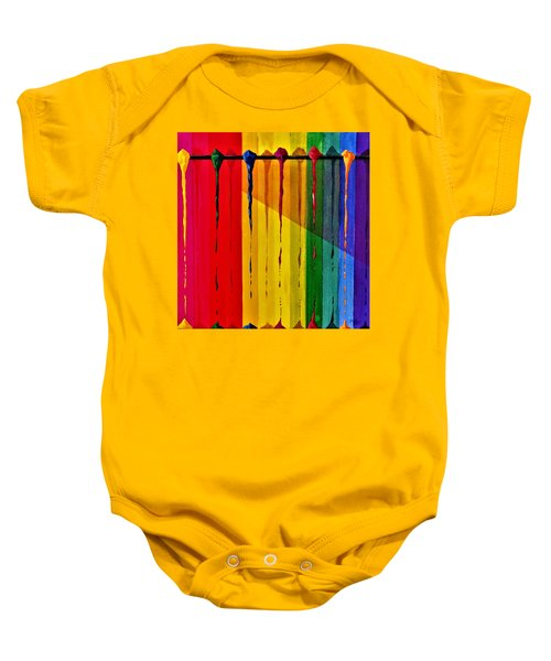 Line Of Fall Colors Baby Onesie