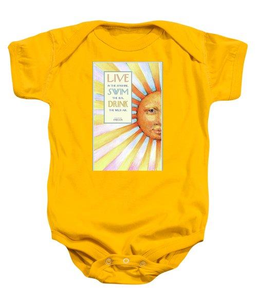 Live In The Sunshine Baby Onesie