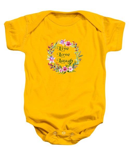 Live Love Laugh Wreath Baby Onesie