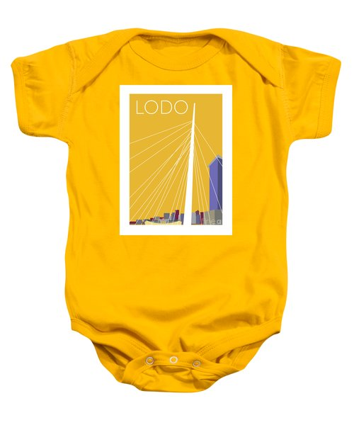 Lodo/gold Baby Onesie