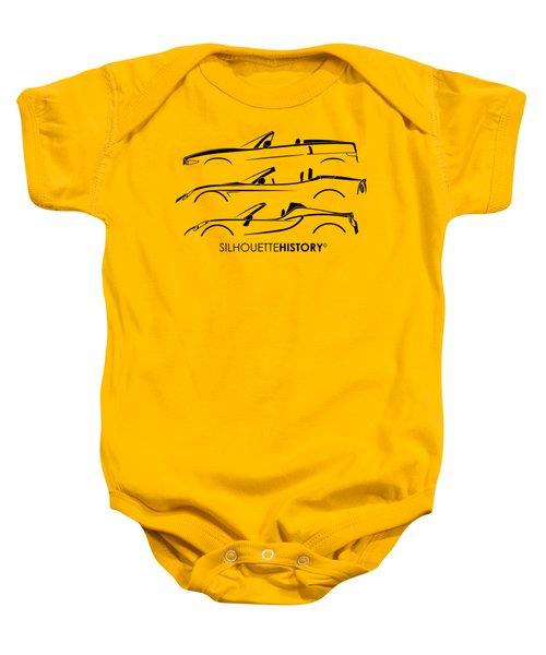 Lombard Roadster Silhouettehistory Baby Onesie