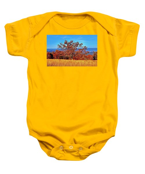Lone Mountain Tree Baby Onesie